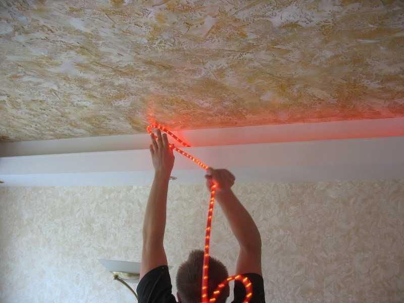 Как сделать самому красиво потолок