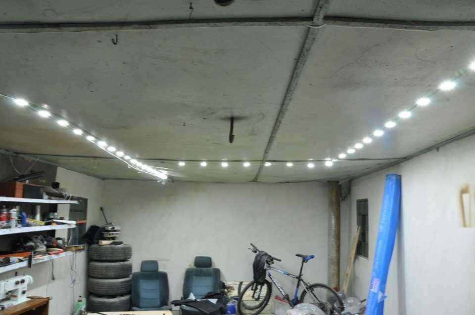 Освещение гаража на светодиодах своими руками 157