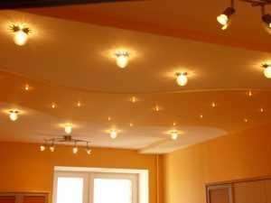 Потолочное освещение в жилых помещениях