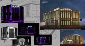 проект фасадного освещения