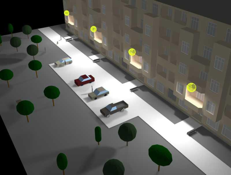 Рассчет освещения придомовой территории
