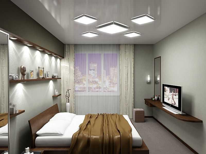 Декоративное освещение в спальне