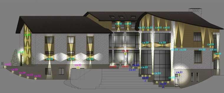 Проект архитектурной подсветки загородного дома