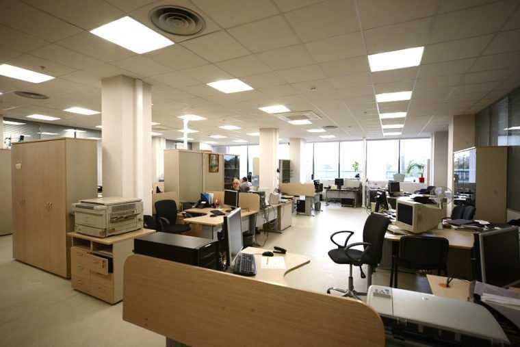 Параметры офисного освещения