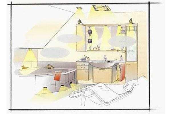 Проект освещения ванной комнаты