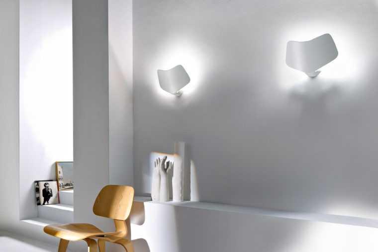 Настенные светильники в интерьере квартиры