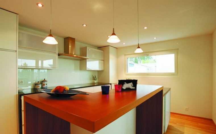 Потолочные кухонные светильники из матового стекла