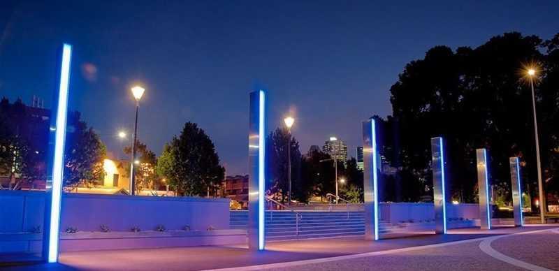 Рефлекторное освещение улиц