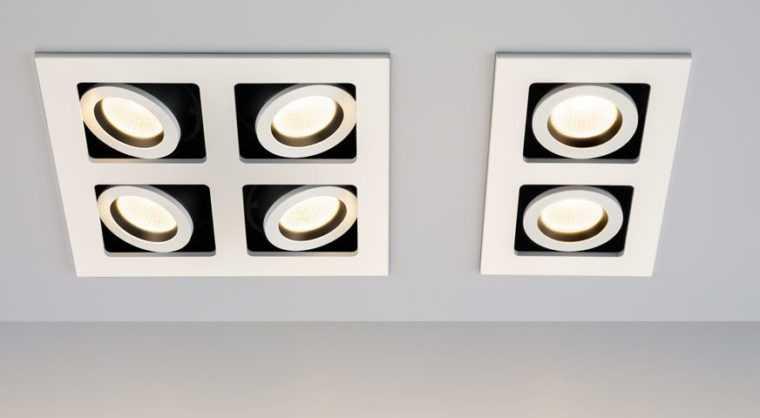 Встраиваемые точечные потолочные светильники