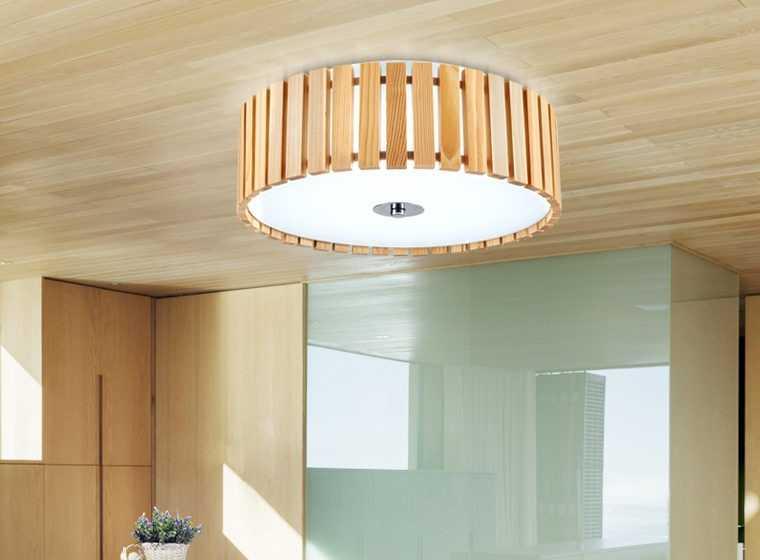 Круглый потолочный светильник в японском стиле