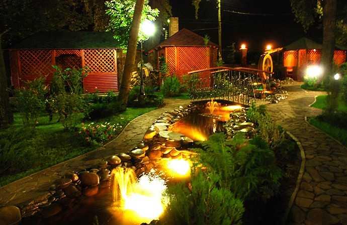 Декоративное освещение придомовой территории