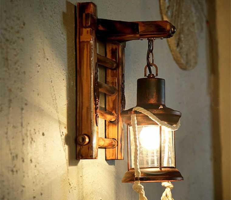 Настенные светильники для загородного дома