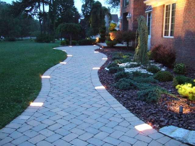 Декоративное освещение садовых дорожек