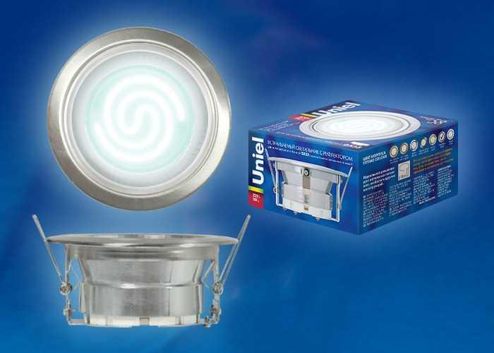 Сверхтонкий точечный светильник Uniel с цоколем GX53H-2R