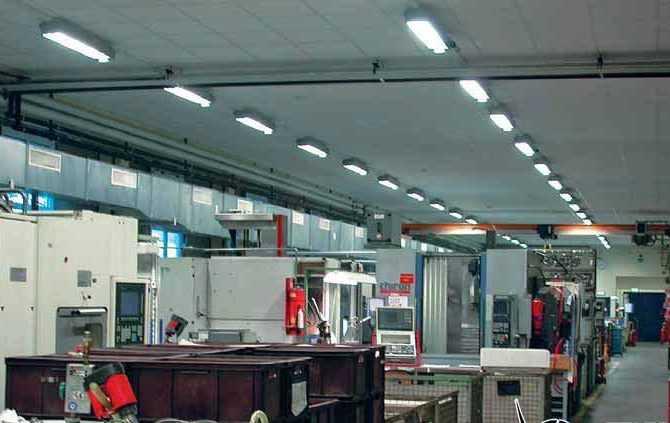 Промышленные двухламповые люминесцентные светильники