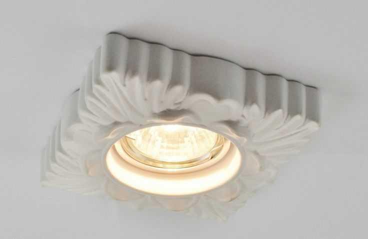 Накладной точечный светильник с керамическим корпусом