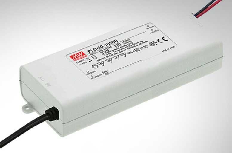 Блок питания PLD-60-1050B для внутреннего светодиодного освещения