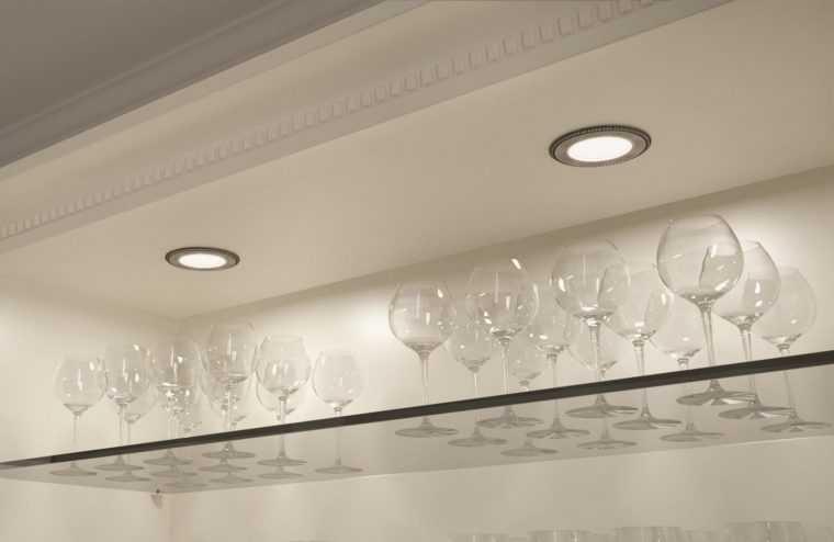 Встраиваемые точечные светодиодные светильники для мебели