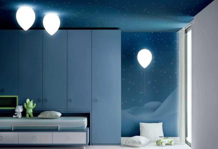 Подвесные светильники в виде шара для детской комнаты