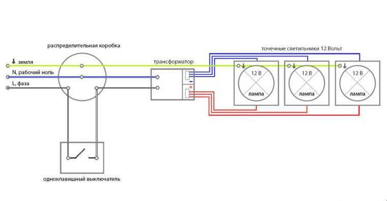 Подключение светодиодных ламп на 12В