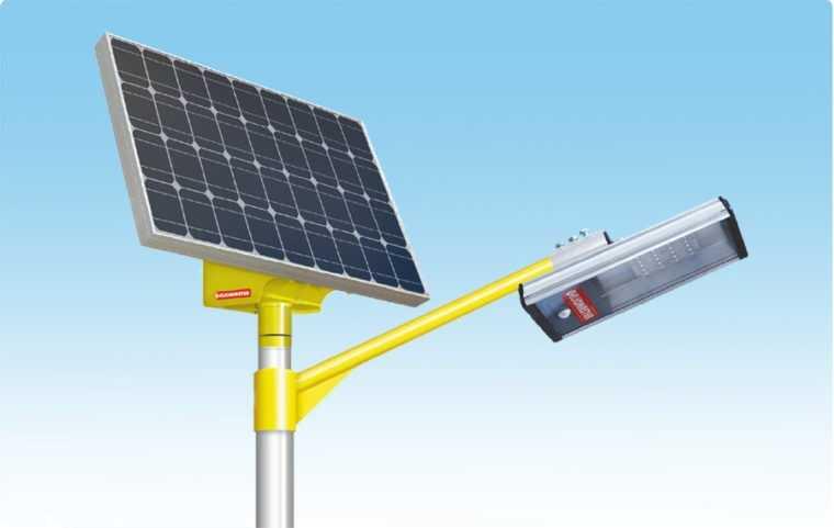 Светодиодный светильник для столба с солнечной батареей