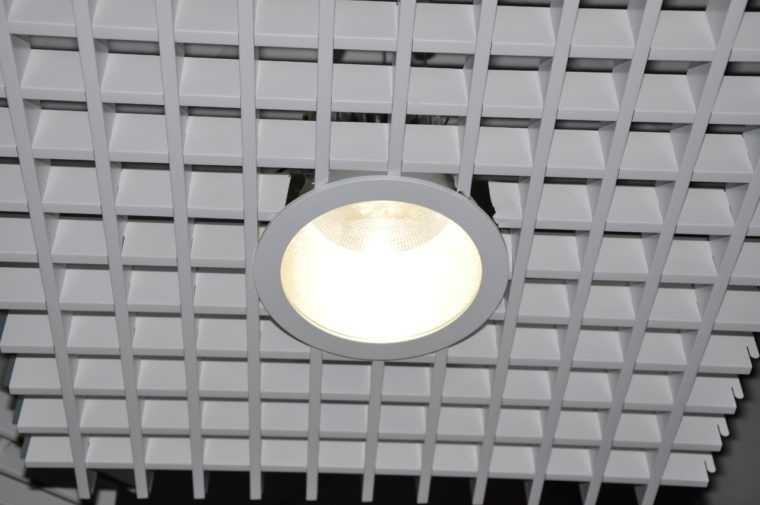 Встраиваемый светодиодный светильник для потолка Грильято