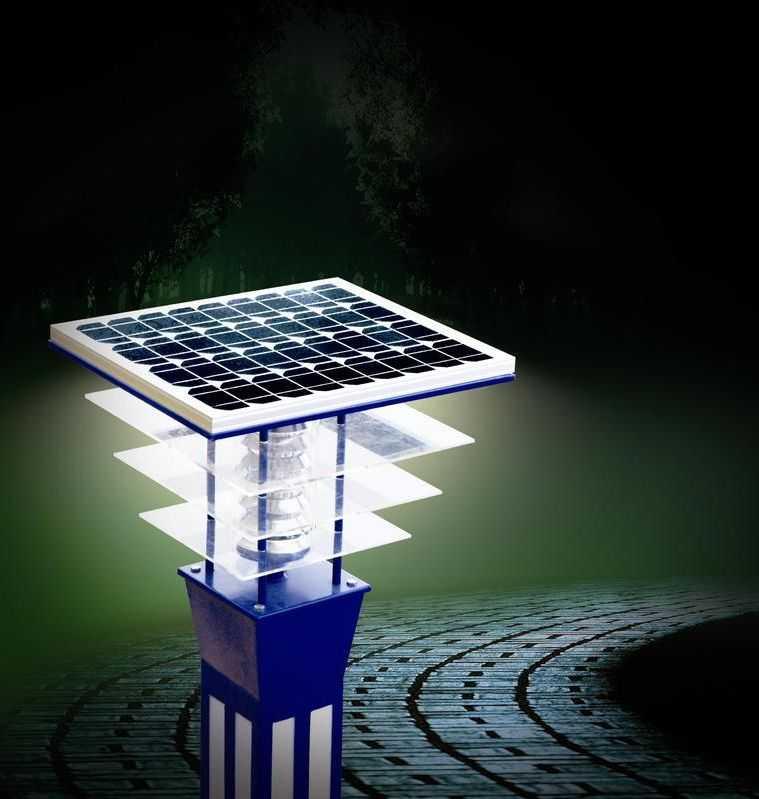 Ландшафтный светильник на солнечной батарее