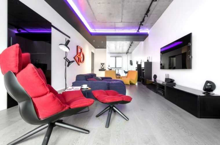Торшер должен соотвествовать общему стилю оформления комнаты