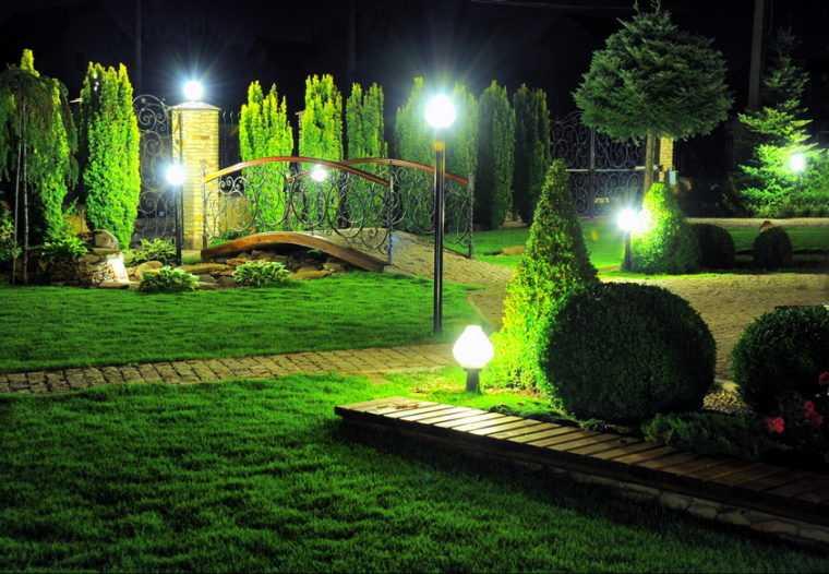 Освещение дорожек в парке