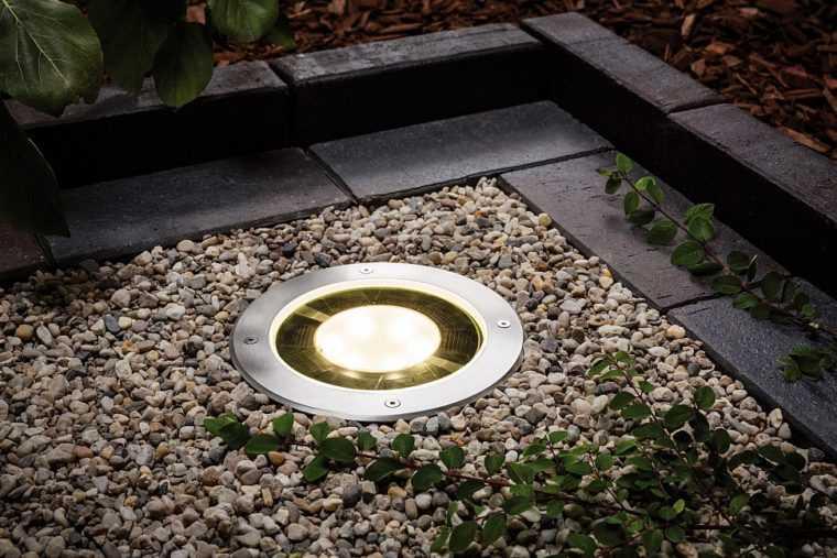 Грунтовый светильник для освещения дорожек в саду