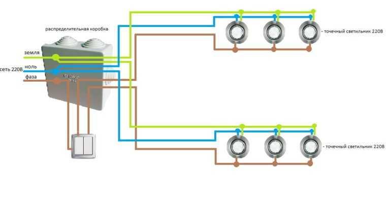 Подключение точечных светильников к сети 220В без трансформатора