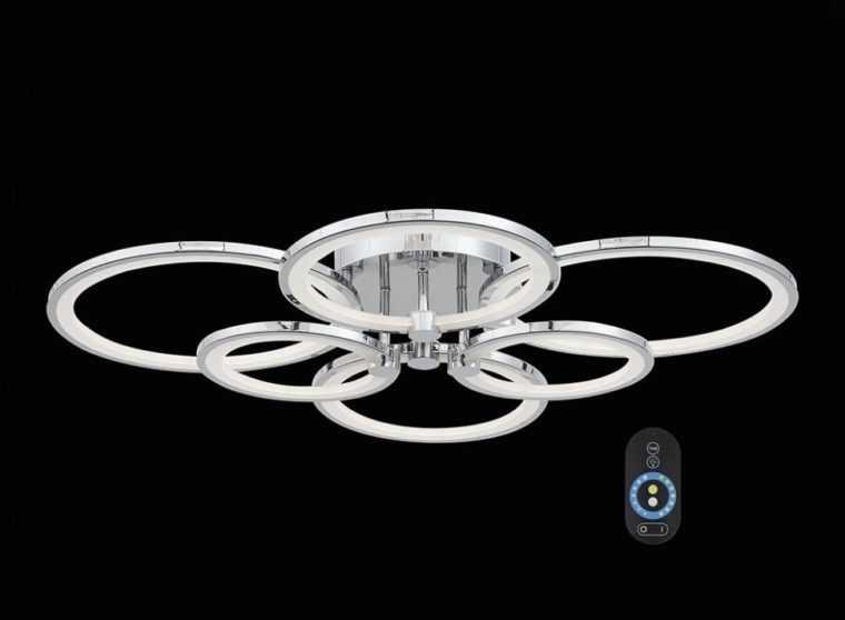 Потолочная светодиодная люстра с дистанционным управлением