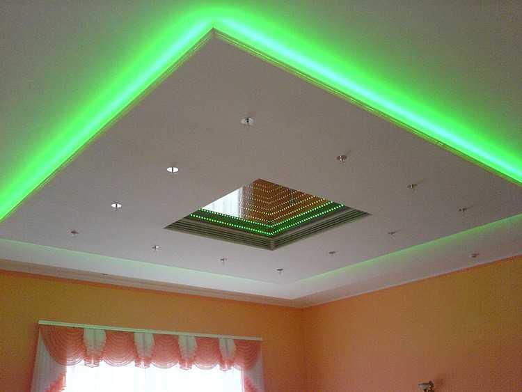 Встраиваемые в потолок светильники позволяют реализовать любое дизайнерское решение