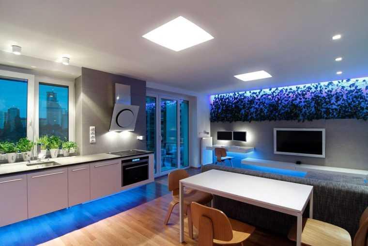 Освещение помещения современными светодиодными источниками света