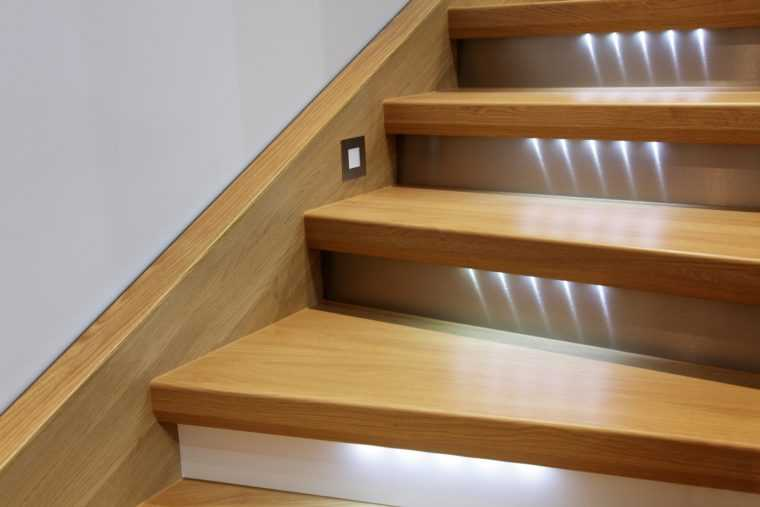 Встроенная светодиодная подсветка для ступеней
