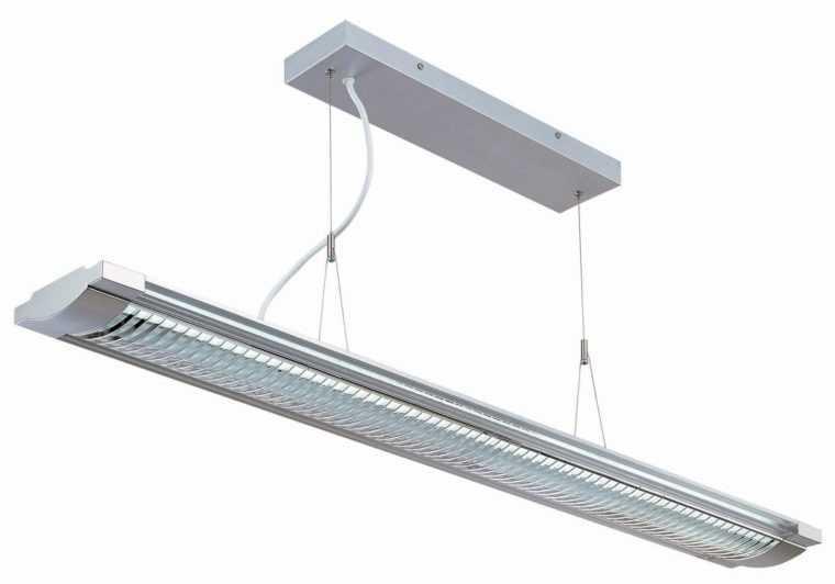 Подвесной светильник на кухню с люминесцентными лампами