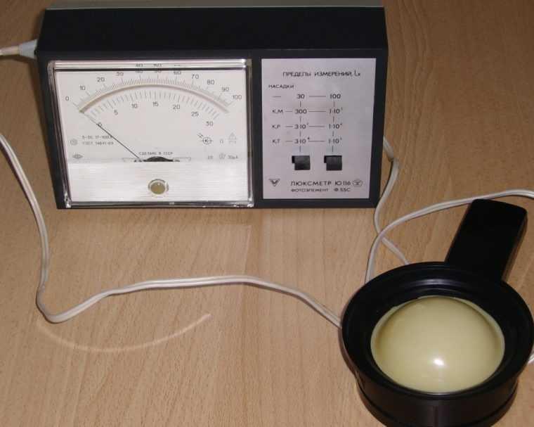 Люксметр для определения уровня искусственного освещения