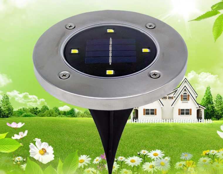 Грунтовой LED-светильник на солнечной батарее