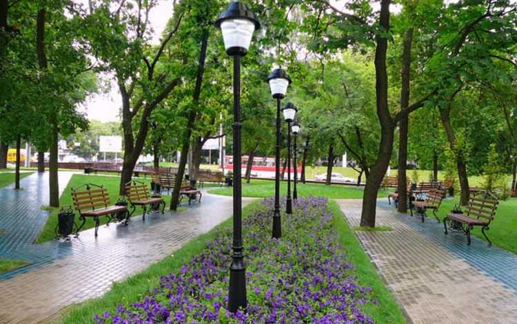 Фонарные столбы для парковых зон