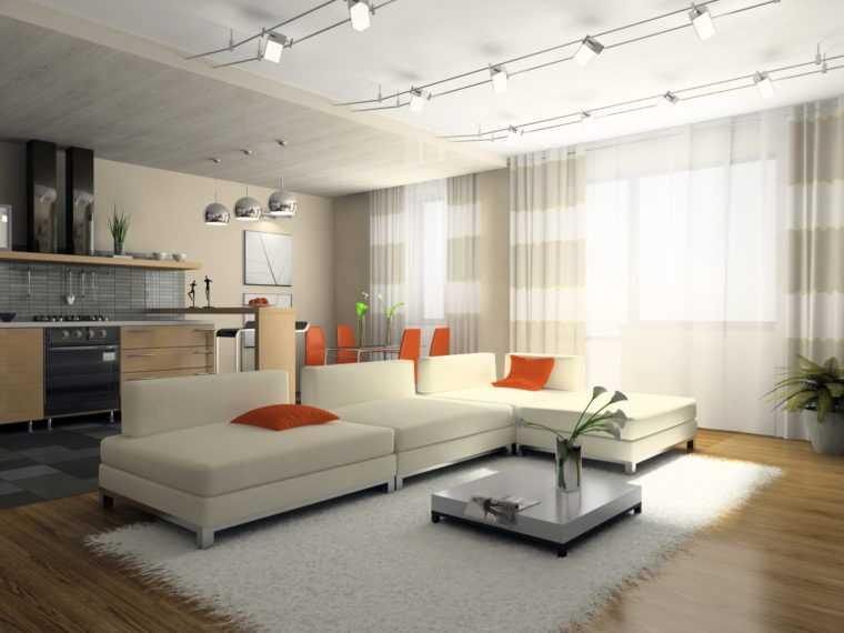 Струнные системы освещения позволяют реализовать оригинальные дизайнерские решения