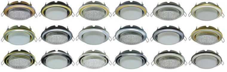 Модели встраиваемых точечных LED-светильников