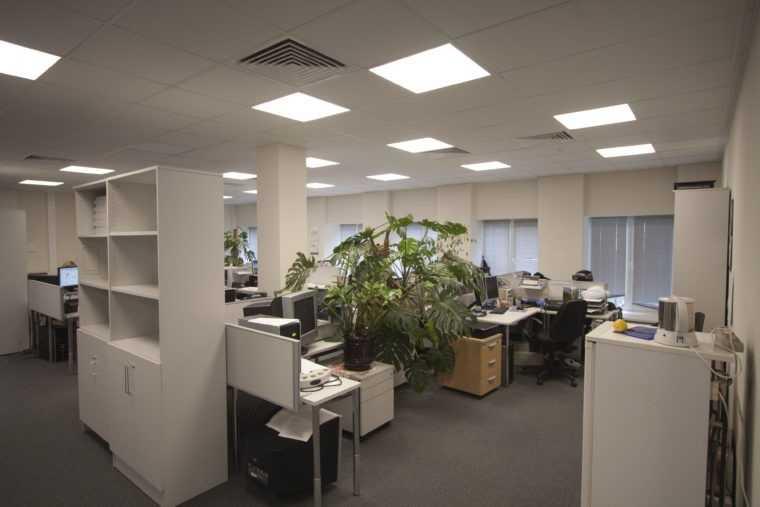 Освещение офиса LED-светильниками