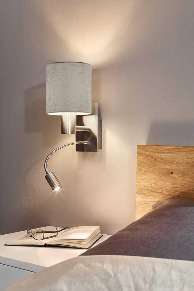 Светильник на гибкой ножке для спальни