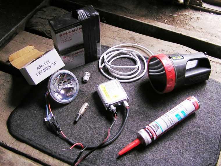 Изготовление фонаря для подводной охоты