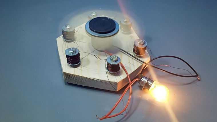 Электрогенератор из магнитов