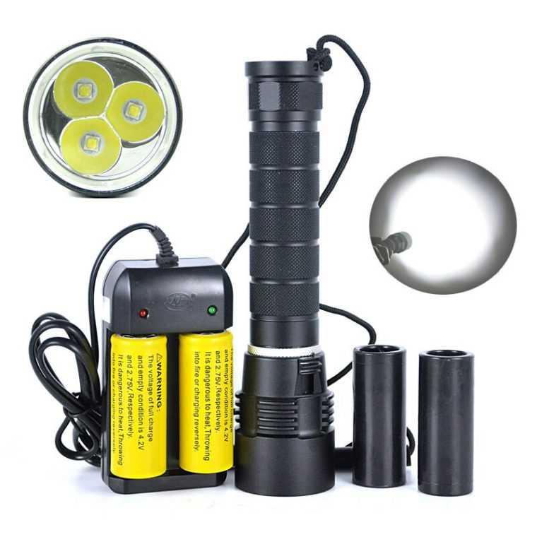 Аккумуляторы для фонаря дайвера
