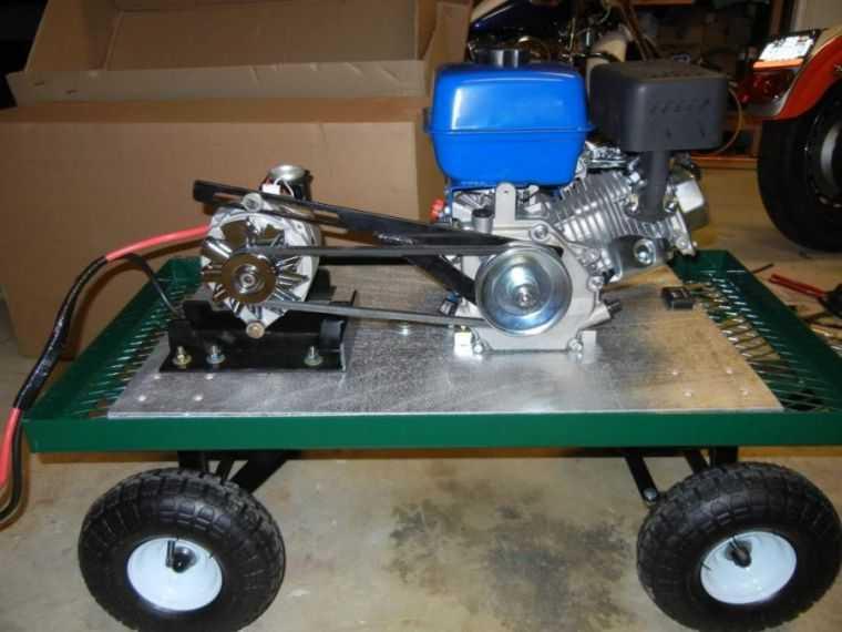 Электрогенератор из двигателя